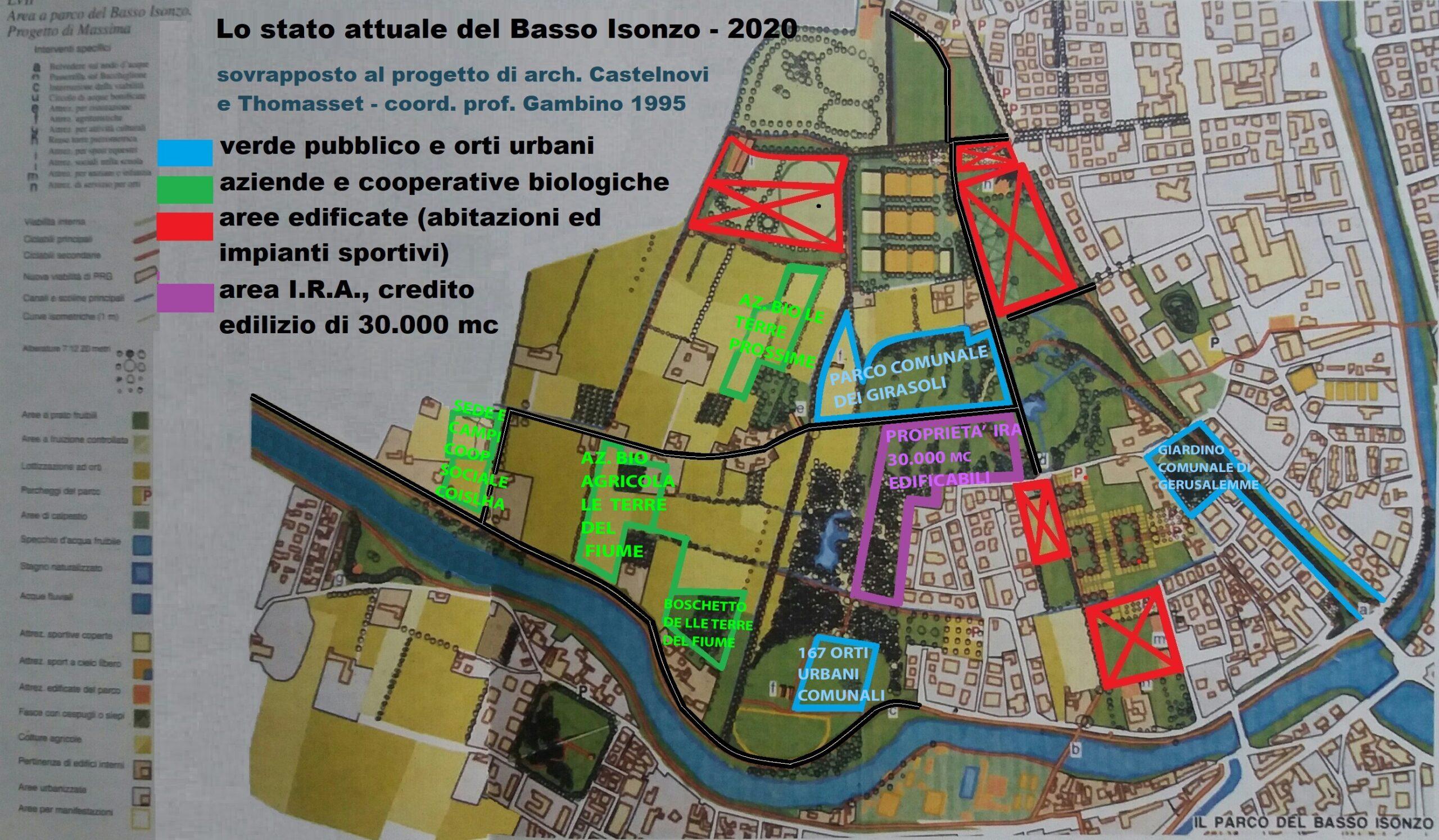Mappa-cartina-piantina-Basso Isonzo-Parco-agropaesaggistico-Padova-Castelnovi-aree-2020-con strade