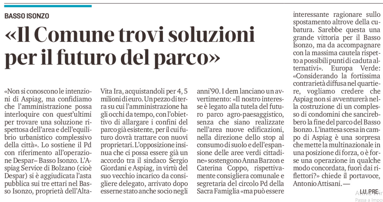 Basso-Isonzo-Articolo-Il-Mattino-di-Padova-11-01-2021