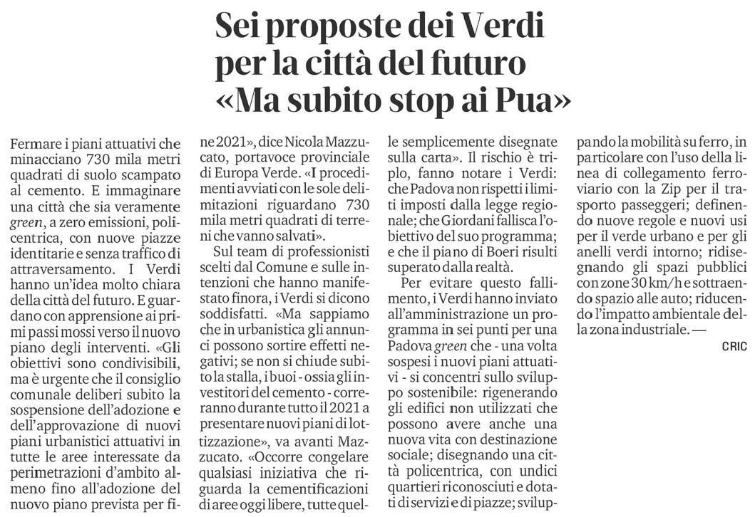 Proposte-piano-degli-interventi-Padova-articolo-Il-Mattino-di-Padova-22-dicembre-2020